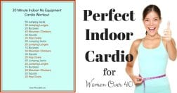 30 Minute Indoor No Equipment Cardio Workout for Women Over 40