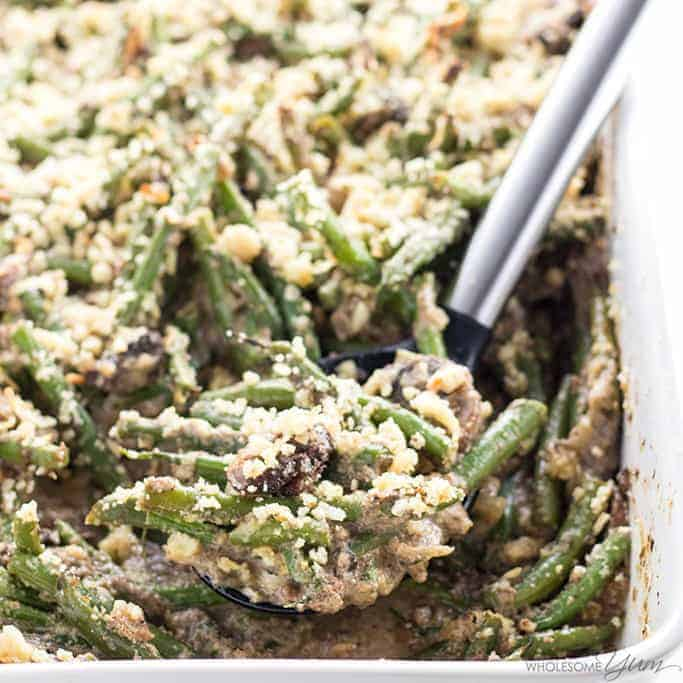 green bean casserole with cauliflower