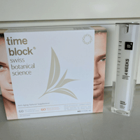 Timeblock products and face cream