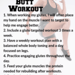 list of tips for mom butt workouts