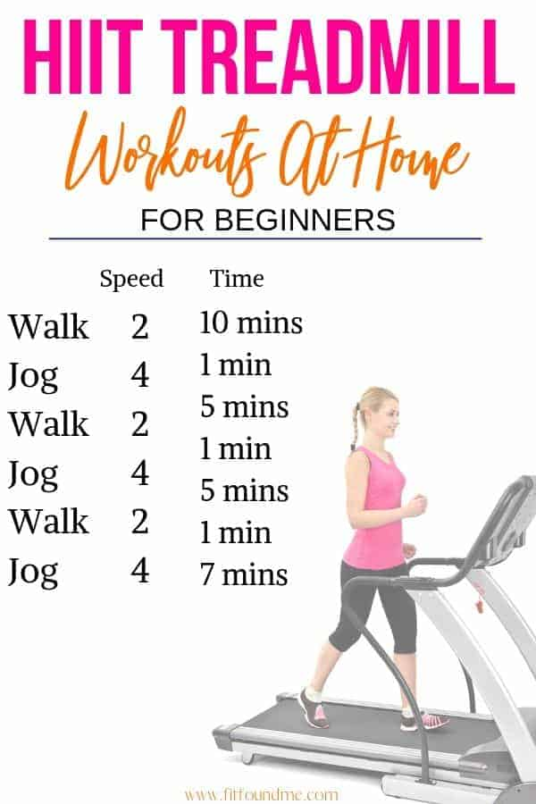 HIIT treadmill workout at home details for beginners