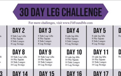 30 Day Leg Challenge for Slimming Thighs