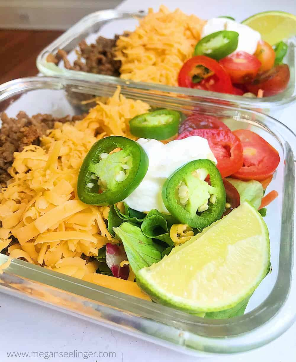ground beef recipe meal prep container ready
