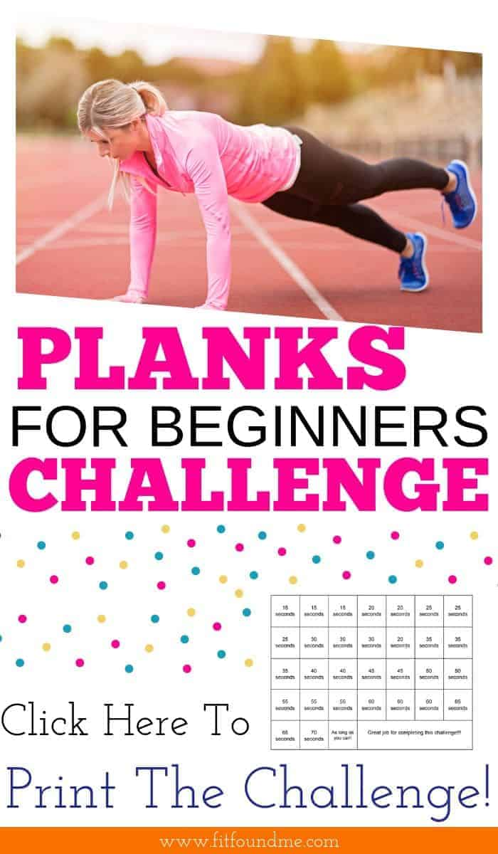 woman doing plank on track for a challenge