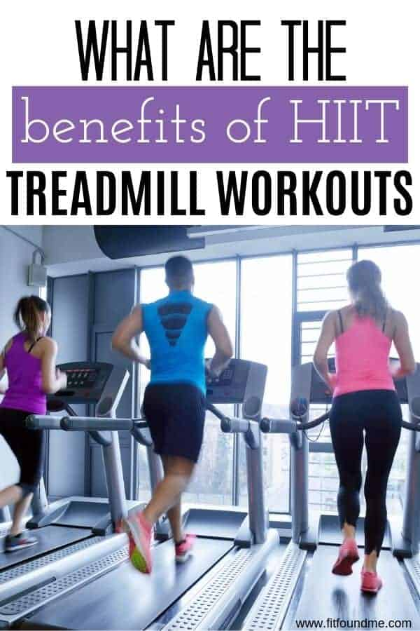 people running a HIIT treadmill workout in gym